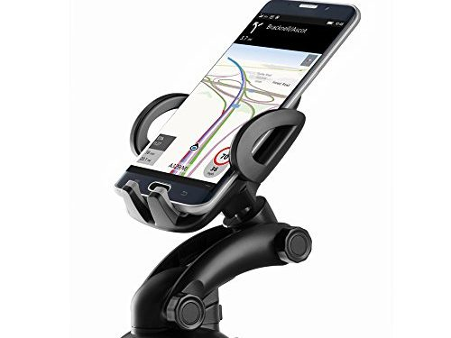 Zilu CM012 Universal Dashboard & Windshield Car Phone Mount for iPhone 7 Plus 6s Plus SE Andorid Phones and other Smartphones-Retail Packaging …Black