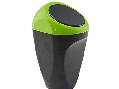 Yolu Mini Home Office Auto Car Vehicle Garbage Can Green
