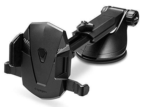 Spigen Kuel OneTap AP12T Car Phone Mount Universal Car Phone Holder With OneTap Technology & Low Profile Design for iPhone 7 / 7 Plus / 6S / 6S Plus / Galaxy S8 / S8 Plus / S7 / S7 Edge / LG / Nexus