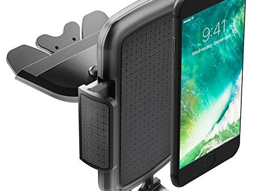 ToHayie Universal CD Slot Car Mount,Car Phone Holder for iPhone 7/7Plus/6s/6Plus/5S,Samsung Galaxy S5/S6/S7,LG and all Smartphones up to 6″,Black Car Cradle Mount,Pack 1