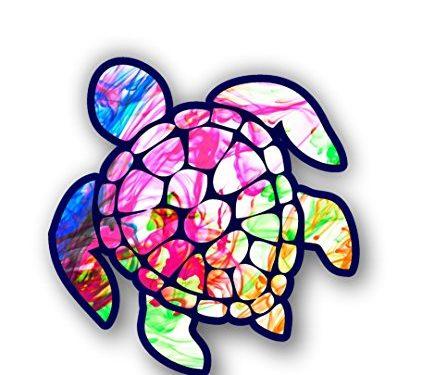 Sea Turtle Decal/sticker color burst