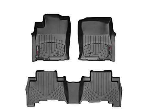 WeatherTech Floor Liners Full Set for Toyota 2016-2017 Tacoma Double Cab With Automatic 1st and 2nd Rows – Black
