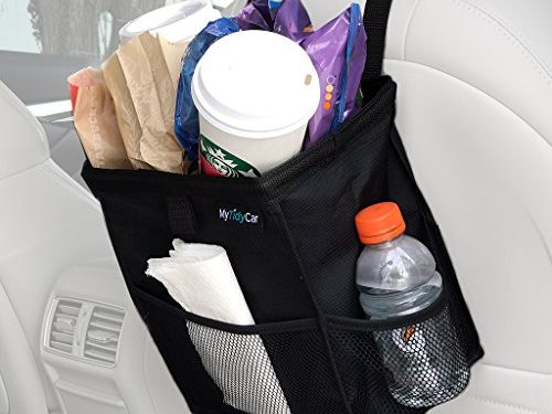 Premium, 3 Pockets, Leakproof, Hanging Car Garbage Bag for Vehicles – MyTidyCar Hanging Car Trash Can & Cooler