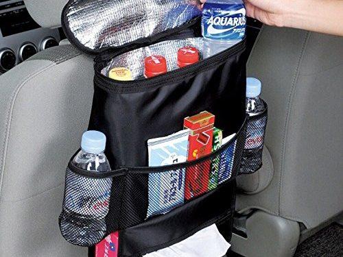 Baby Backseat Organizer – CarClean Car Seat Back Organizer – Multi-Pocket Travel Storage Bag for Baby Travel Accessories, Kids Toy Storage, Back Seat Protector / Kick Mat BO-007