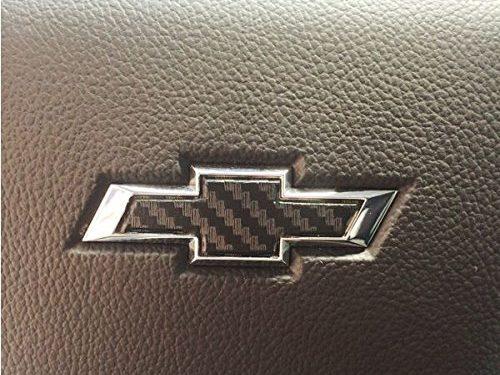2014-2017 Chevrolet Silverado – Steering Wheel Bowtie Overlay Decal Color: 3D Carbon Fiber