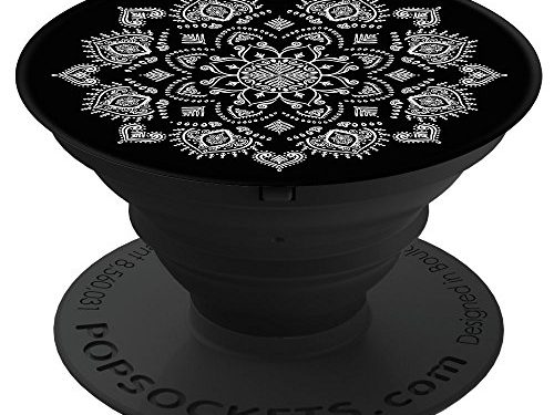 Quiet Darkness Mandala – PopSockets: Expanding Grip and Stand for Smartphones and Tablets