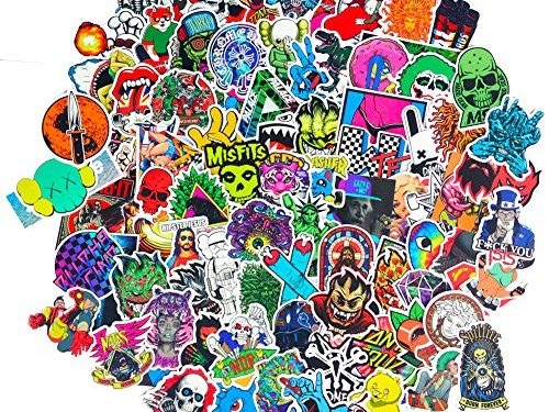 DreamerGO Cool Graffiti Stickers 100 Pieces Various Car Motorcycle Bicycle Skateboard Laptop Luggage Vinyl Sticker Graffiti Laptop Luggage Decals Bumper Stickers 100 Pieces Style E