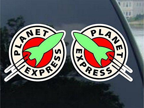 5″ 2 Pack – Futurama Planet Express Vynil Car Sticker Decal