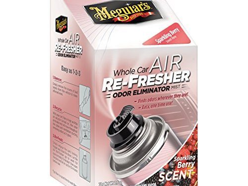 Meguiar's G16302 Whole Car Air Refresher Odor Eliminator Sparkling Berry Scent, 2 oz.