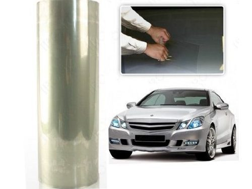 12 by 48 Inches Self Adhesive Headlight, Tail Lights, Fog Lights Tint Vinyl Film 12 X 48, Clear