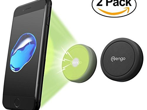 Retail Packaging – Car Mount, 2 Pack Mengo Magna-Snap Mini Magnetic Air Vent Car Mount for Smartphones iPhone, Samsung, HTC, LG, Nokia, & More, Mp3 Players, and GPS Devices
