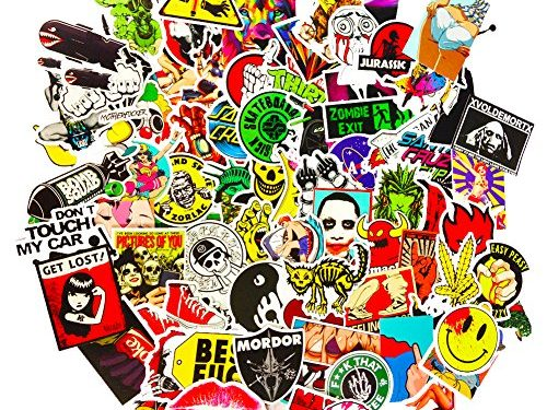 DreamerGO Cool Graffiti Stickers 100 Pieces Various Car Motorcycle Bicycle Skateboard Laptop Luggage Vinyl Sticker Graffiti Laptop Luggage Decals Bumper Stickers Style A