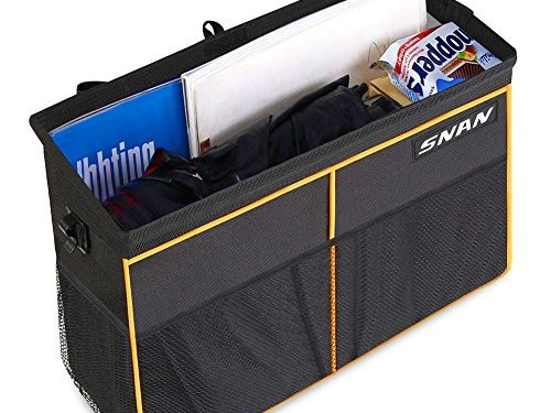 SNAN Car Storage Organizer Bag Seat Back Bottle/Drinks Holder / Multi-Pockets Travel Storage Bag for All Kinds of Cars