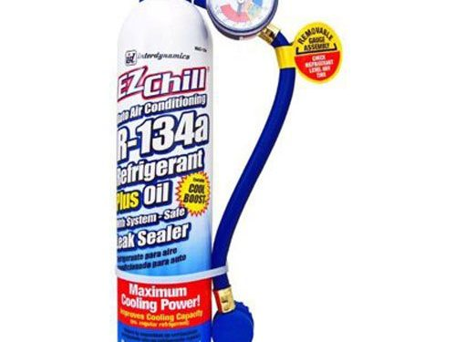 18 oz. – Interdynamics MAC-134 EZ Chill Refrigerant Refill with Charging Hose and Gauge
