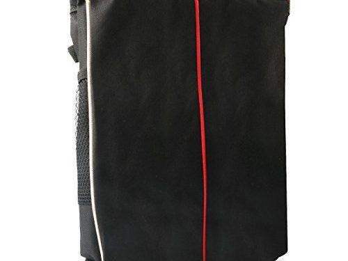 MDW Waterproof Car Trash Bin- Foldable Trash Bag for Litter with Side Pocket