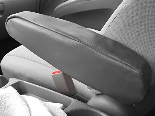 FH Group FH1052GRAY Armrest Cover Gray Premium Faux Leather – One Pair Set of 2