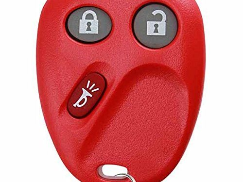 Red – KeylessOption Keyless Entry Remote Control Car Key Fob Replacement for LHJ011