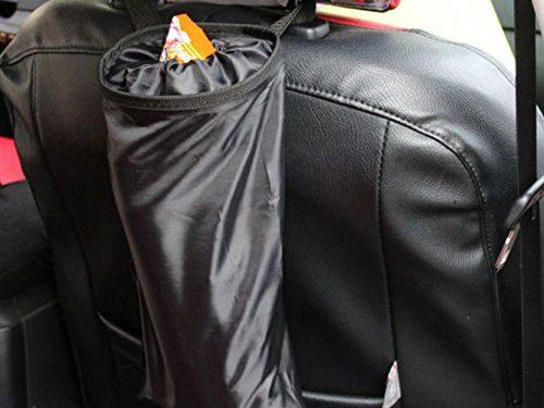 Hephis Car Back Seat Headrest Litter Trash Garbage Bag Black