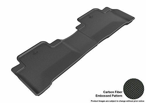 Kagu Rubber Black – 3D MAXpider Second Row Custom Fit Floor Mat for Select Acura MDX Models