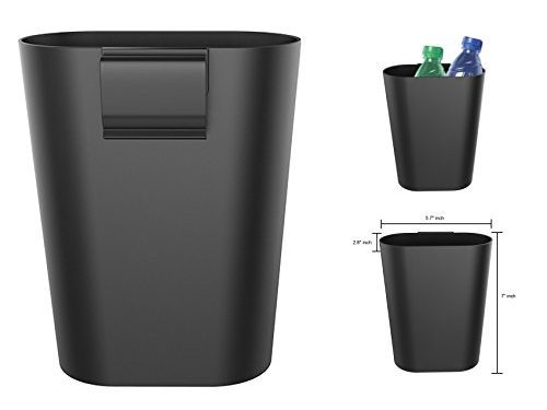 Mini-Factory Car Garbage Can Clip On Seatback / Door Panel Travel Litter Trash Bin for Cars – Black