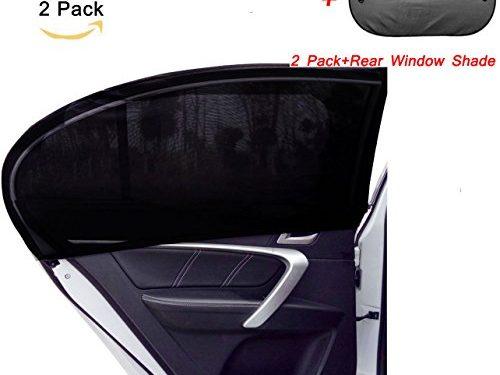 DOGOO Universal Fit Car Side Window Sun Shade,Blocking over 98% of Harmful UV Rays 2 Pack + Rear Window shade