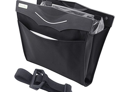 Futuresky Stylish Car Storage Bag–Vehicle Trash Bag-Waterproof Magnetic Garbage Can For Car,Convenient,Eco-friendly,elegant and not huge,Affordable&Durable–Store Snacks,Shopping,Essentials&Litter