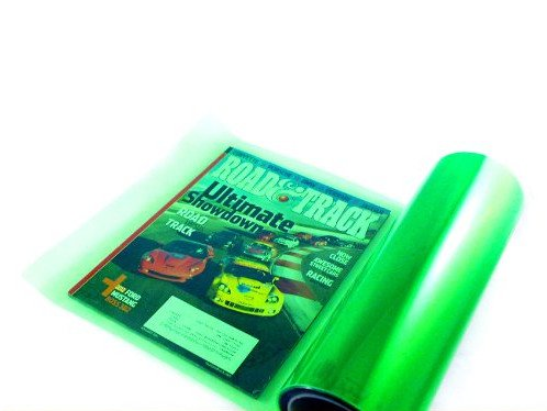 12 by 48 Inches Self Adhesive Headlight, Tail Lights, Fog Lights Tint Vinyl Film 12 X 48, Green