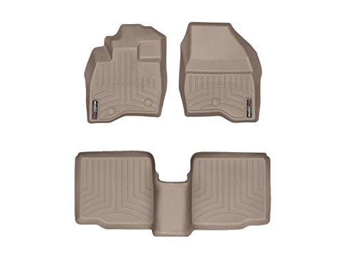 Weathertech DigitalFit 459811-453592 – First and Second Row All Weather Floor Liners for 2017 Ford Explorer Tan