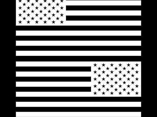 American Flag United States Decal Sticker for Car Window, Laptop, Motorcycle, Walls, Mirror and More. # 816 6″ x 11.4″, White
