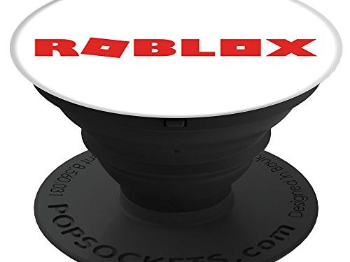 Black – ROBLOX Red Logo PopSockets: Expanding Stand and Grip for Smartphones and Tablets