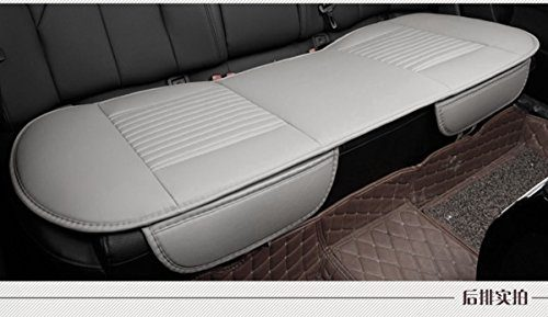 EDEALYN 53 × 19.3 inches Car Interior Accessories Smooth PU Leatherette long rear seat Auto seat cover Seat Cushion car seat cover Rear -Gray
