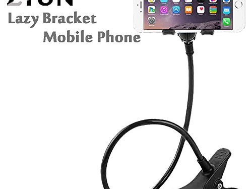 ZTON Cell Phone Holder, Universal Mobile Phone Stand, Lazy Bracket, Flexible Long Arms Clip Mount for IPhone, LG, etc.in Office Bedroom Desktop Black