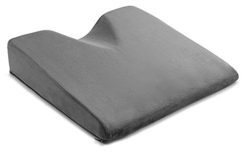 Medium-Firm Memory Foam Orthopedic Chair Booster Pillow for Automobile – ComfySure 3 Inch Car Seat Wedge Cushion for Lower Back Pain Relief while Driving