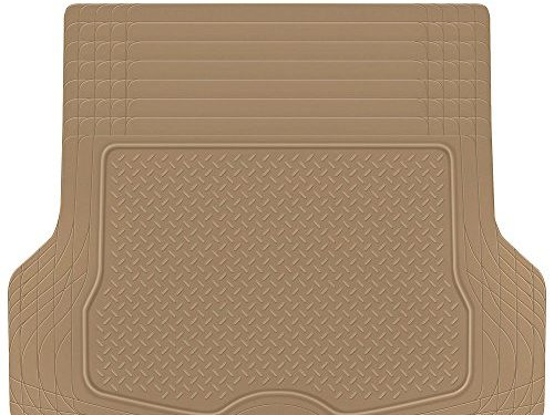 All Weather Trunk Protection, Trimmable to Fit & Durable HD Rubber Beige – BDK Heavy Duty Rubber Cargo Floor Mat