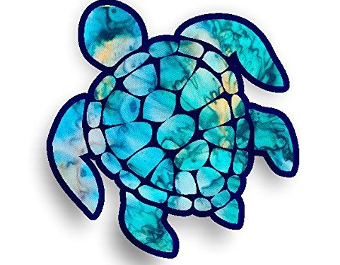 Sea Turtle Decal/sticker cyan dream