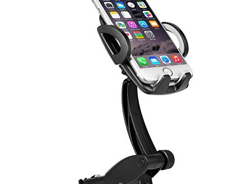 Ameauty Universal Car Mount Charger, 3-in-1 Phone Holder Cradle with Dual USB Ports3.1A Max, 360 Degree Rotation for iPhone, Samsung Galaxy and More Android Smartphones 3.5-6 inches