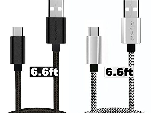 USB Type C Cable, 2pack 6FTExtra Long Braided Quick Charging Cord, CertifiedYoTwo USB C-A Charger Cable with Reversible Connector for Samsung Galaxy S8+,LG G5/G6/V20,Google Pixel XL,Nexus 5x/6p