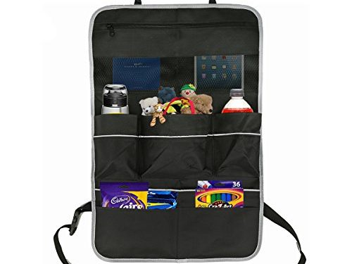 Oetoe Car Backseat Organizer – Luxury Car Organizer, Perfect X-Large Size 7 Pocket Auto Back Seat Storage To Organize All Baby, Kids Toys And Travel Accessories In Your Car, SUV, And Minivan