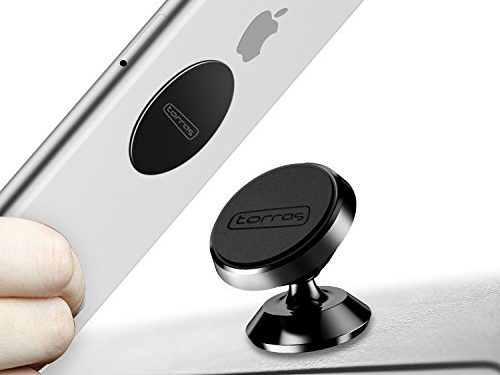 TORRAS Magnetic Car Mount Holder, Universal Stylish 360° Rotation Car Phone Holder, Dashboard Mount, Cell Phone Car Cradle for Any Phones, GPS or Light Tablets, iPhone 7 / 6 / 5 Galaxy S7 / S6