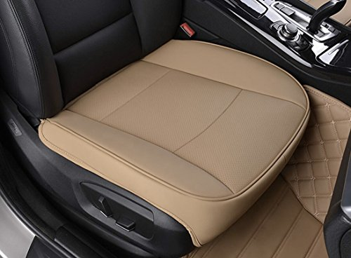 EDEALYN Luxury Car Interior PU Leather Seat Cushion Protector Front CoverSingle Cover Width 205x Deep21 X Thick 035 Tan