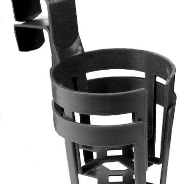 Custom Accessories 92200 Black Large Cup Holder, Twin Pack