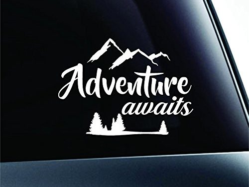 Adventure Awaits Arrows Journey Nature Life Computer Laptop Symbol Decal Family Love Car Truck Sticker Window White