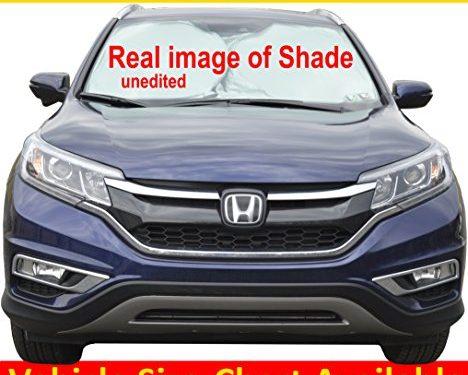 Windshield Sun Shade for Car Windshield 170TNylon Car Windshield Shade VEHICLE SIZE-CHART AVAILABLE Medium 69″X31″176X79cm