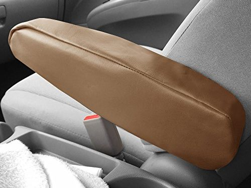 FH Group FH1052TAN Armrest Cover Tan Premium Faux Leather  Set of 2