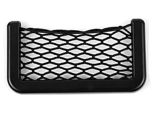 Black Universal Car Seat Side Back Pocket Storage Organizer Nylon Net Bag Phone Holder