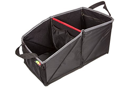 Neatly Organizes Kids & Adults in Your Car – Rigid Card Inserts Allow Easy Fold Flat Storage – Premium Quality Backseat Storage with Front & Inside Pockets – 4 Drink Holders – Car Seat Organizer