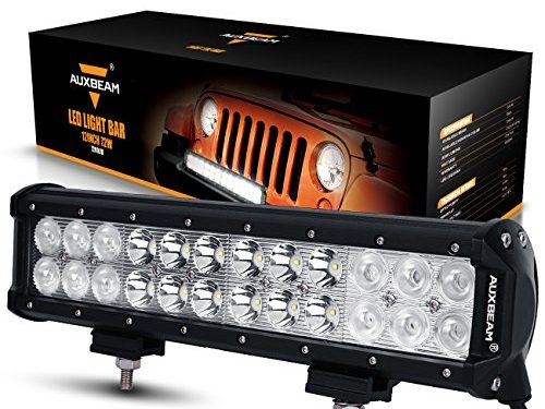 Auxbeam 77707207AX LED Light Bar 12″ CREE LED Light 3W CREE Driving Light Combo Beam Waterproof for Off-Road 4 x 4 Truck Military Mining Heavy Equipment, 72W, 24 Piece