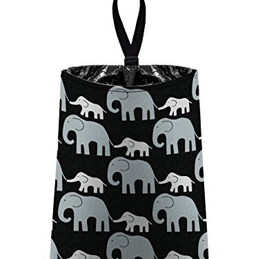 Black by The Mod Mobile – Auto Trash Elephants – litter bag/garbage can for your car
