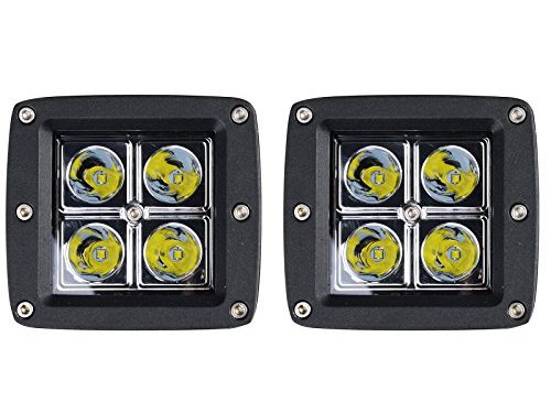 KAWELL K3-3016 2 Pack 16W SPOT Light 1000 Lumens 3×3 Pods for Work, Driving, Fog, Safety, 4×4, Atv, Car, Truck, 4wd, Suv, Tractor, Motorcycle, Boat, Quad, Utv, and Auxiliary Lighting