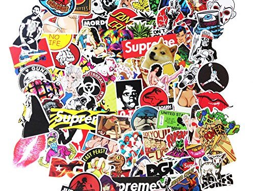 DreamerGO Cool Graffiti Stickers 200 Pieces Transparent Various Car Motorcycle Bicycle Skateboard Laptop Luggage Vinyl Sticker Graffiti Decals Bumper Stickers 200 Pieces